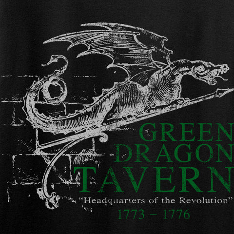 IV8888 Ladies Green Dragon Tavern Signage V-Neck T-Shirts, V-Neck [variant_title] by Ballistic Ink - Made in America USA