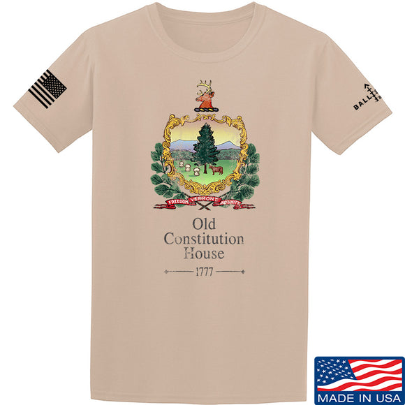 IV8888 Old Constitution House Tavern Signage T-Shirt T-Shirts Small / Sand by Ballistic Ink - Made in America USA