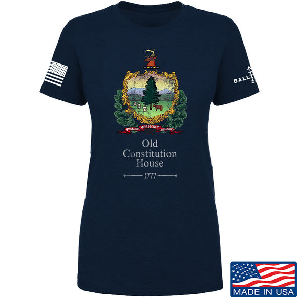 IV8888 Ladies Old Constitution House Tavern Signage T-Shirt T-Shirts SMALL / Black by Ballistic Ink - Made in America USA