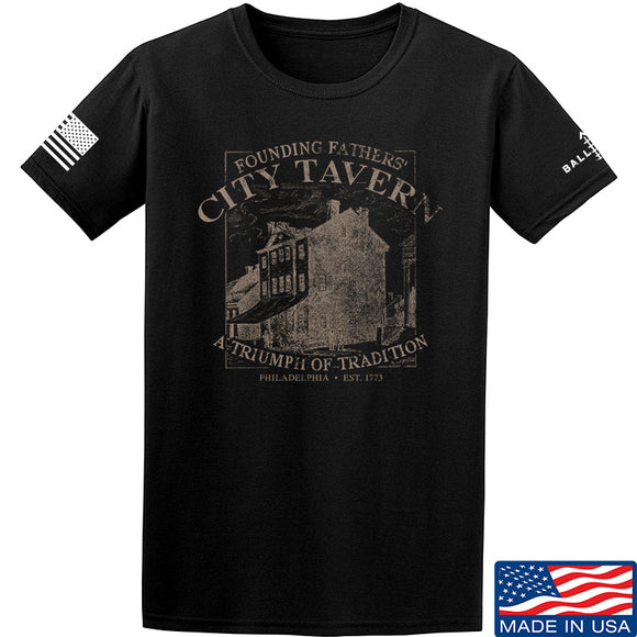 IV8888 Founding Fathers' City Tavern T-Shirt T-Shirts Small / Black by Ballistic Ink - Made in America USA