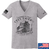 IV8888 Ladies Founding Fathers' City Tavern V-Neck T-Shirts, V-Neck SMALL / Light Grey by Ballistic Ink - Made in America USA