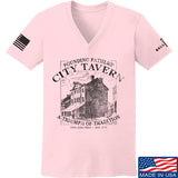 IV8888 Ladies Founding Fathers' City Tavern V-Neck T-Shirts, V-Neck SMALL / Light Pink by Ballistic Ink - Made in America USA