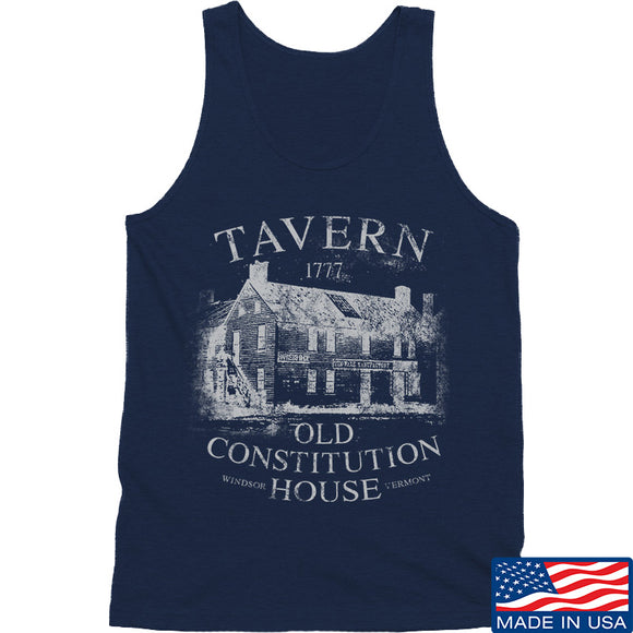 IV8888 Old Constitution House Tavern Tank Tanks SMALL / Navy by Ballistic Ink - Made in America USA