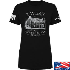 IV8888 Ladies Old Constitution House Tavern T-Shirt T-Shirts SMALL / Charcoal by Ballistic Ink - Made in America USA