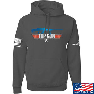 IV8888 Top Gun Barrett M107A1 Hoodie Hoodies Small / Charcoal by Ballistic Ink - Made in America USA