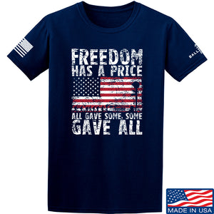IV8888 Freedom Has a Price T-Shirt T-Shirts Small by Ballistic Ink - Made in America USA