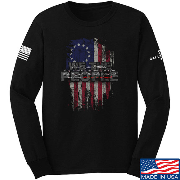 IV8888 We The People Long Sleeve T-Shirt Long Sleeve Small / Black by Ballistic Ink - Made in America USA
