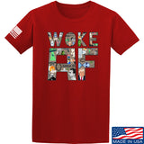 IV8888 Woke AF T-Shirt T-Shirts Small / Red by Ballistic Ink - Made in America USA