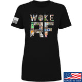 IV8888 Ladies Woke AF T-Shirt T-Shirts SMALL / Black by Ballistic Ink - Made in America USA