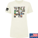 IV8888 Ladies Woke AF T-Shirt T-Shirts SMALL / Cream by Ballistic Ink - Made in America USA