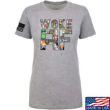 IV8888 Ladies Woke AF T-Shirt T-Shirts SMALL / Light Grey by Ballistic Ink - Made in America USA