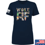 IV8888 Ladies Woke AF T-Shirt T-Shirts SMALL / Navy by Ballistic Ink - Made in America USA
