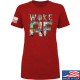 IV8888 Ladies Woke AF T-Shirt T-Shirts SMALL / Red by Ballistic Ink - Made in America USA