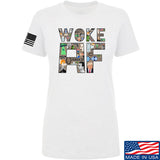 IV8888 Ladies Woke AF T-Shirt T-Shirts SMALL / White by Ballistic Ink - Made in America USA