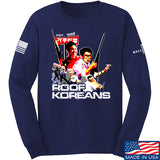 IV8888 Roof Koreans Long Sleeve T-Shirt Long Sleeve Small / Navy by Ballistic Ink - Made in America USA