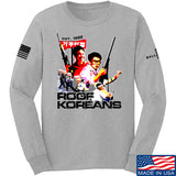 IV8888 Roof Koreans Long Sleeve T-Shirt Long Sleeve Small / Light Grey by Ballistic Ink - Made in America USA