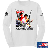 IV8888 Roof Koreans Long Sleeve T-Shirt Long Sleeve Small / White by Ballistic Ink - Made in America USA