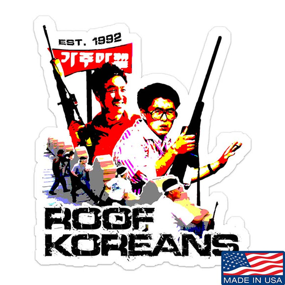 Roof Koreans Sticker & Decal