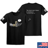 Kit Badger Grey Death Adder - Be Smart T-Shirt T-Shirts Small / Black by Ballistic Ink - Made in America USA