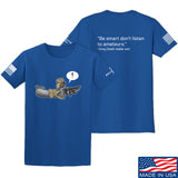 Kit Badger Grey Death Adder - Be Smart T-Shirt T-Shirts Small / Blue by Ballistic Ink - Made in America USA