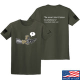 Kit Badger Grey Death Adder - Be Smart T-Shirt T-Shirts Small / Military Green by Ballistic Ink - Made in America USA