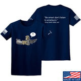 Kit Badger Grey Death Adder - Be Smart T-Shirt T-Shirts Small / Navy by Ballistic Ink - Made in America USA