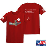 Kit Badger Grey Death Adder - Be Smart T-Shirt T-Shirts Small / Red by Ballistic Ink - Made in America USA