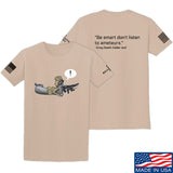 Kit Badger Grey Death Adder - Be Smart T-Shirt T-Shirts Small / Sand by Ballistic Ink - Made in America USA