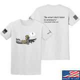 Kit Badger Grey Death Adder - Be Smart T-Shirt T-Shirts Small / White by Ballistic Ink - Made in America USA