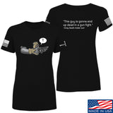Kit Badger Ladies Grey Death Adder - Dead in a Gun Fight T-Shirt T-Shirts SMALL / Black by Ballistic Ink - Made in America USA