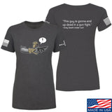 Kit Badger Ladies Grey Death Adder - Dead in a Gun Fight T-Shirt T-Shirts SMALL / Charcoal by Ballistic Ink - Made in America USA
