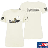 Kit Badger Ladies Grey Death Adder - Dead in a Gun Fight T-Shirt T-Shirts SMALL / Cream by Ballistic Ink - Made in America USA