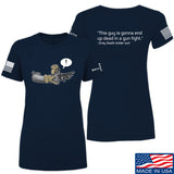 Kit Badger Ladies Grey Death Adder - Dead in a Gun Fight T-Shirt T-Shirts SMALL / Navy by Ballistic Ink - Made in America USA