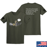 Kit Badger Grey Death Adder - The Loudest Sound T-Shirt T-Shirts Small / Military Green by Ballistic Ink - Made in America USA