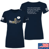 Kit Badger Ladies Grey Death Adder - The Loudest Sound T-Shirt T-Shirts SMALL / Navy by Ballistic Ink - Made in America USA