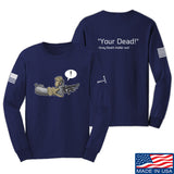 Kit Badger Grey Death Adder - Your Dead Long Sleeve T-Shirt Long Sleeve Small / Navy by Ballistic Ink - Made in America USA