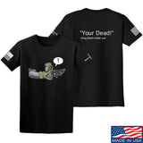 Kit Badger Grey Death Adder - Your Dead T-Shirt T-Shirts Small / Black by Ballistic Ink - Made in America USA