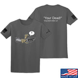 Kit Badger Grey Death Adder - Your Dead T-Shirt T-Shirts Small / Charcoal by Ballistic Ink - Made in America USA