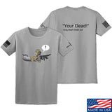 Kit Badger Grey Death Adder - Your Dead T-Shirt T-Shirts Small / Light Grey by Ballistic Ink - Made in America USA