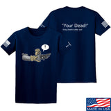 Kit Badger Grey Death Adder - Your Dead T-Shirt T-Shirts Small / Navy by Ballistic Ink - Made in America USA