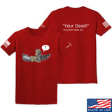 Kit Badger Grey Death Adder - Your Dead T-Shirt T-Shirts Small / Red by Ballistic Ink - Made in America USA