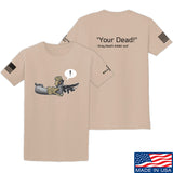 Kit Badger Grey Death Adder - Your Dead T-Shirt T-Shirts Small / Sand by Ballistic Ink - Made in America USA