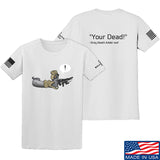 Kit Badger Grey Death Adder - Your Dead T-Shirt T-Shirts Small / White by Ballistic Ink - Made in America USA