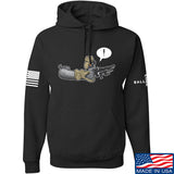 Kit Badger Grey Death Adder Hoodie Hoodies Small / Black by Ballistic Ink - Made in America USA