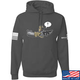 Kit Badger Grey Death Adder Hoodie Hoodies Small / Charcoal by Ballistic Ink - Made in America USA