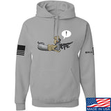 Kit Badger Grey Death Adder Hoodie Hoodies Small / Light Grey by Ballistic Ink - Made in America USA