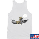 Kit Badger Grey Death Adder Tank Tanks SMALL / White by Ballistic Ink - Made in America USA