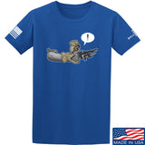 Kit Badger Grey Death Adder T-Shirt T-Shirts Small / Blue by Ballistic Ink - Made in America USA