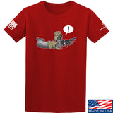 Kit Badger Grey Death Adder T-Shirt T-Shirts Small / Red by Ballistic Ink - Made in America USA
