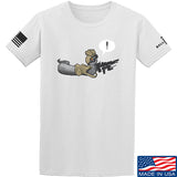 Kit Badger Grey Death Adder T-Shirt T-Shirts Small / White by Ballistic Ink - Made in America USA